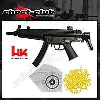 Softairgewehr H&K MP5 AEG Sportsline, Kal. 6mm - Set