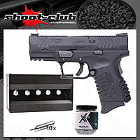 Springfield XDM compact CO2 Pistole Kal. 4,5mm Stahl BBs im Plinking-Set