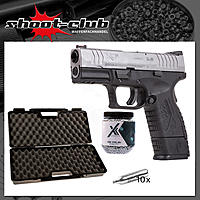 Springfield XDM compact bicolor CO2 Pistole 4,5mm BBs im Koffer-Set