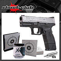 Springfield XDM compact bicolor CO2 Pistole Kal. 4,5mm Stahl BBs im Set