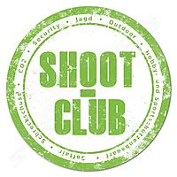 Sticker grün transparent mit shoot-club Logo - 14cm Ø