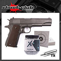 Swiss Arms P1911 - CO2 Pistole im Kaliber 4,5mm - Set