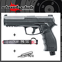 Umarex T4E HDP 50 CO2 Defense-Training-Marker .50 schwarz im Set mit Pepperballs