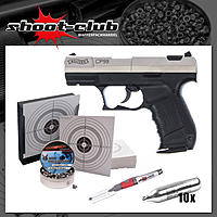 Walther CP99 bicolor CO2 Pistole 4,5mm im Sparset
