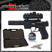Walther Night Hawk black 4,5 mm Diabolos max. 3,5J - Koffer-Set