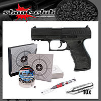 Walther PPQ CO2 Pistole 4,5 mm Diabolos - Komplett-Set