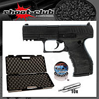 Walther PPQ CO2 Pistole NBB 4,5 mm Diabolos - Koffer-Set