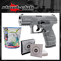 Walther PPQ HME Metal Gray Airsoft Pistole Kaliber 6 mm BB 0,5 Joule im Komplett-Set