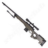 Well L96 AWP FH Airsoft Sniper Starter Set OD Green Upgraded