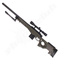 Well MB4402 AWP Airsoft Gewehr Kal. 6 mm Sniper Starter Set OD Green