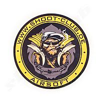shoot-club Sticker BANANA PISTOLS rund - Ø 9,5 cm