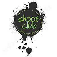 shoot-club Sticker Klecks- Motiv oval - transparent