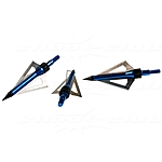3 Jagdspitzen Armbrust - Sanlida Broad Heads Blue / 100 grain