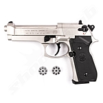Beretta 92 FS CO2 Pistole Nickel - 4,5mm Diabolo