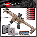 CO2 Gewehr Sig Sauer MPX 4,5mm Diabolos Dark Earth im Set