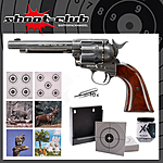 COLT SAA .45 Peacemaker Antique CO2-Revolver 4,5mm BB im Zielscheiben-Set