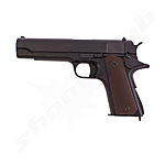 CYMA CM.123 - AEP M1911A1 Airsoft 0,5 Joule Pistole ab14 in der Farbe Schwarz