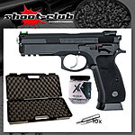 CZ Shadow SP-01 Blowback CO2 Pistole 4,5 mm BBs - Koffer-Set