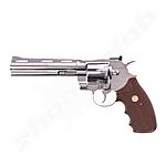 Colt Python 6 CO2 Revolver in Nickel - 4,5mm Stahl BB