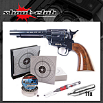 Colt SAA .45 Revolver 4,5mm Diabolos blue finish - Set