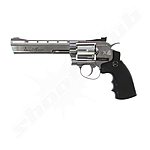 Dan Wesson 6 CO2 Softair Revolver silber - 6 mm
