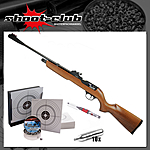 First Strike Falcon CO2 Gewehr 4,5 mm Diabolo - Kugelfang-Bundle