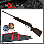 Gamo Luftgewehr Black Bear 4,5mm Diabolos - Futteral Set