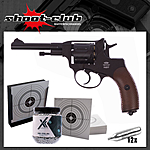 Gletcher Nagant NGT CO2 Revolver Kal. 4,5mm BBs - Kugelfang-Set
