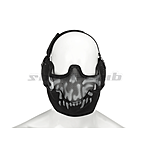 Invader Gear Steel Face mask - Black / Skull