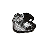 Invader Gear Steel Half Face Mask - Black / Skull
