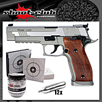 KWC Sig Sauer P226 X-Five CO2 Pistole 4,5 mm BBs - stainless - Set