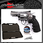 Legends S25 CO2 Revolver Nickel 4,5mm Diabolos - Koffer-Set
