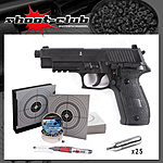 Sig Sauer P226 Blow Back Pistolen Set - 4,5mm Diabolo