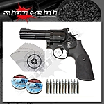 Smith&Wesson 586 CO2 Revolver für Diabolos Kal. 4,5mm - Set