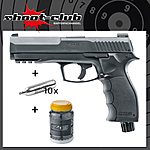 Umarex T4E HDP 50 CO2 Defense-Training-Marker .50 schwarz im Set mit Rubberballs