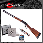 Walther Lever Action CO2-Gewehr 4,5mm Diabolo - Kugelfang-Bundle