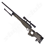 Well AW .338 Airsoft Sniper MB08 Starter Set OD Green / Upgraded