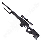 Well MB4402 AWP Airsoft Sniper Starter Set Schwarz