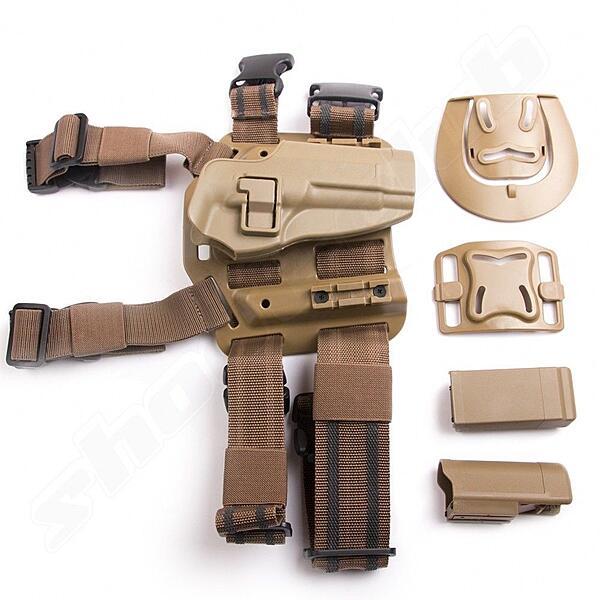 Holster Glock Serie Bein & Hüfte Tiefziehholster TAN