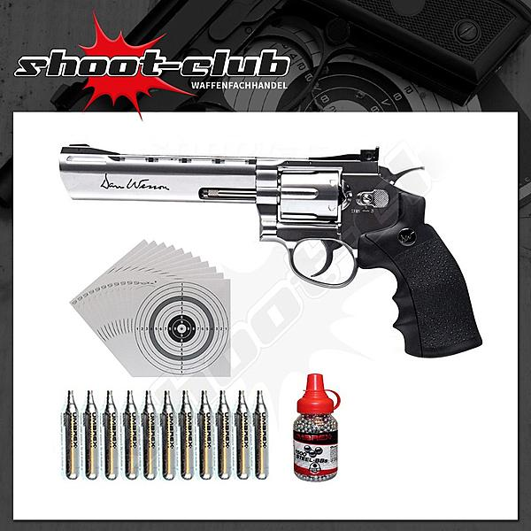 Dan Wesson 6 Zoll CO2-Revolver Kal. 4,5 mm - Set