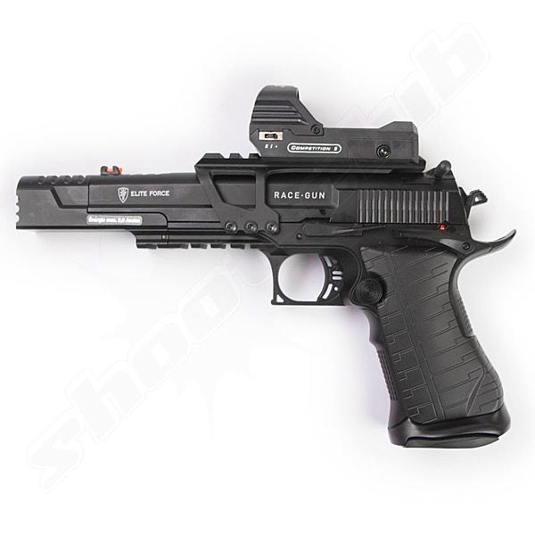 Elite Force Race Gun CO2 Pistole 6mm + Rotpunktvisier