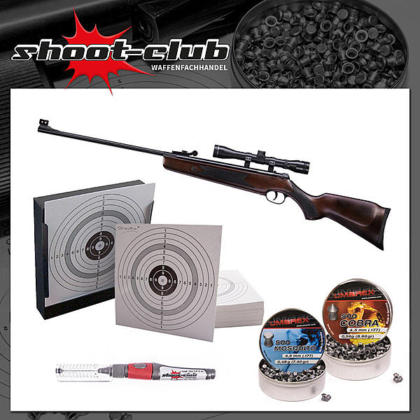 H�mmerli Hunter Force 600 Luftgewehr 4,5mm - im Set