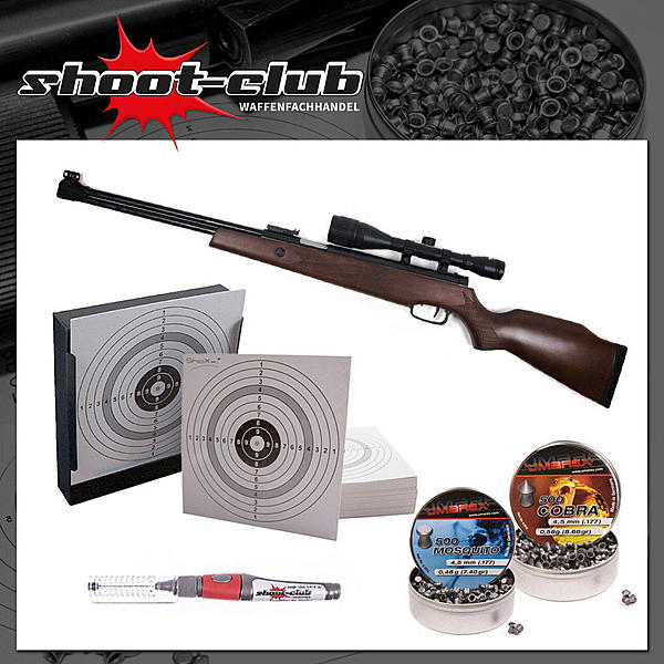 H�mmerli Hunter Force 900 Luftgewehr 4,5mm - Set