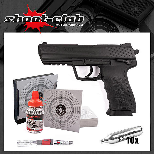 Heckler & Koch HK45 CO2-Pistole 4,5mm - Set