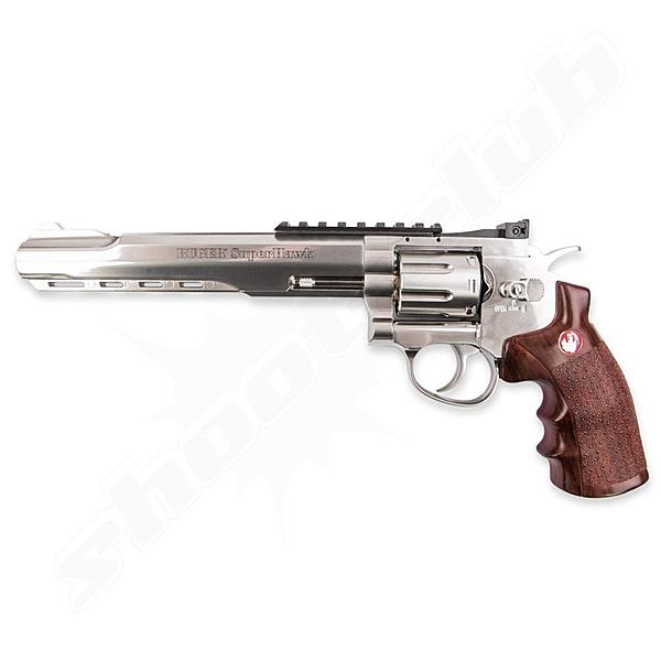 Ruger Super Hawk 8 CO2 Softair Revolver chrom - 6mm