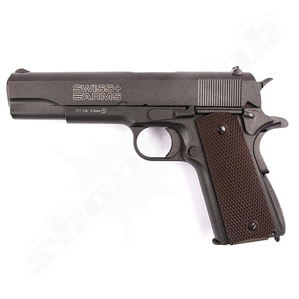Swiss Arms P1911 - CO2 Pistole mit Blowback Kal. 4,5 mm